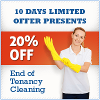 10 Days Limited Offer Presents End of Tenancy Cleaning 20% OFF