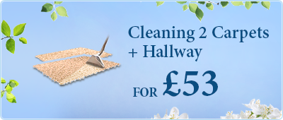 Book Carpet Cleaning of two rooms and a hallway - all for only £53!