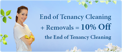 End of Tenancy Cleaning + Removals = 10% on the End of Tenancy Cleaning